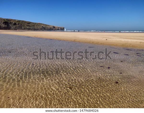 Seascape of Amoreira beach, Costa Vicentina, Portugal.