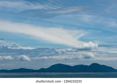 Seascape of asian islands taken - dramatic sky and blue air - Shutterstock ID 1304210233