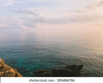 seascape background, tender  natural colors, rocky coastline