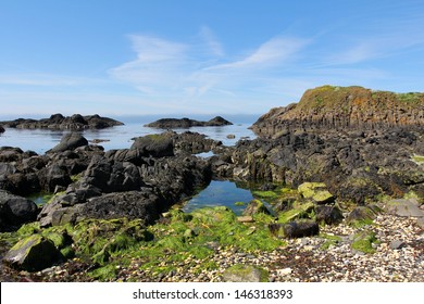 Seascape  from Ballintoy harbor in Northern Ireland
