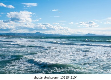 Seascape of Biarritz. Basque country of France