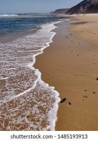Seascape of Bordeira beach, Costa Vicentina, Portugal.