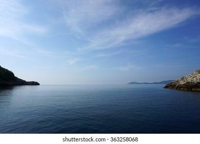 Seascape. Calm sea.
