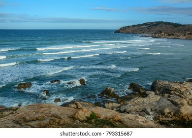 Seascape of Cam Ranh Bay in South Coast of Vietnam.
