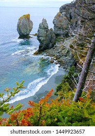 Seascape Cliff view of Atlantic Ocean Newfoundland