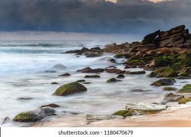 Seascape and Cloudbank - Capturing the sunrise from Killcare Beach on the Central Coast, NSW, Australia.