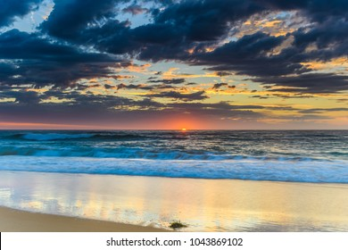 Seascape with Clouds - Capturing the Sunrise from Shelly Beach on the Central Coast, NSW, Australia.