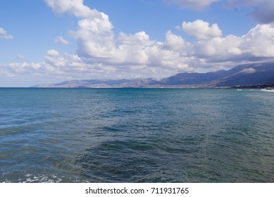 Seascape. The coast of Crete. Greece.