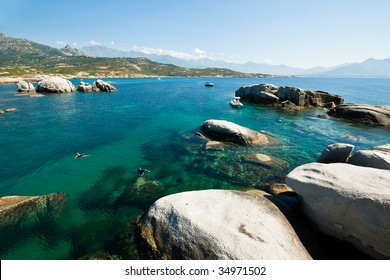 Seascape of Corsica in France