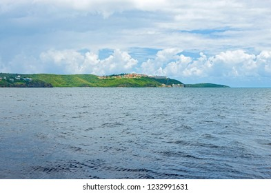 seascape of fajardo bay and resorts along atlantic coast in puerto rico