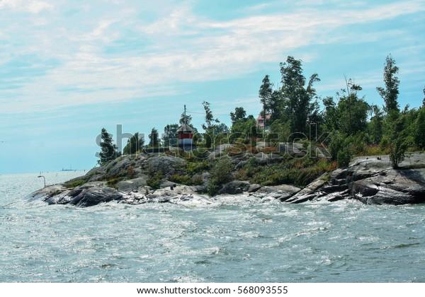 seascape of Helsinki archipelago