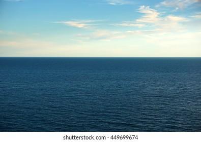Seascape, horizon, sky, ocean.