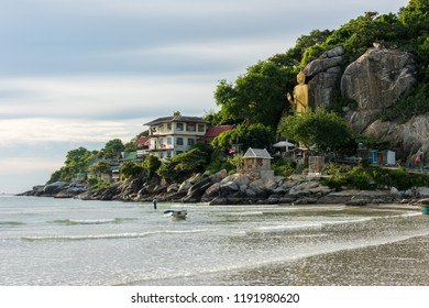 Seascape of Khao Takiab Beach at Hua Hin in Prachuap Khiri Khan, Thailand
