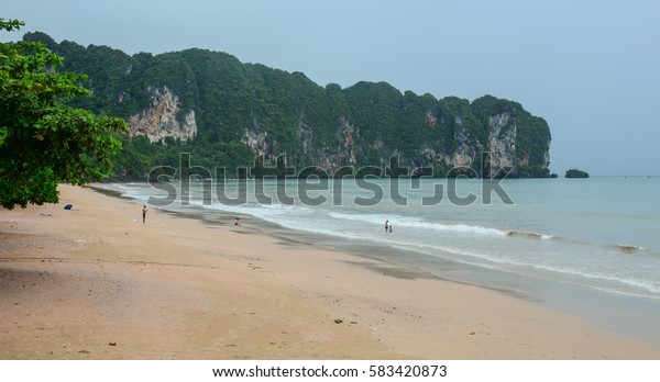 Seascape in Krabi, southern Thailand. Krabi is the main town in the province of Krabi (thesaban mueang) on the west coast of southern Thailand