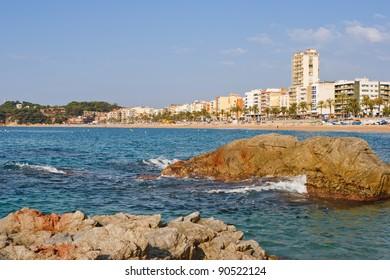 Seascape of Lloret de mar. Catalonia, Spain