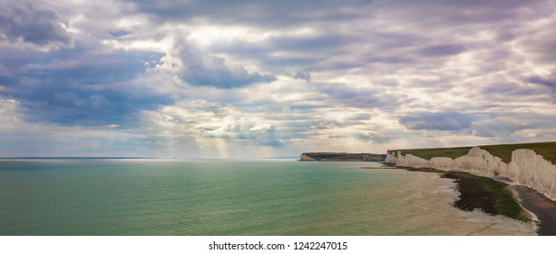 Seascape, Looking West from Birling Gap, South Downs National Park, England
