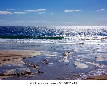 Seascape at low tide