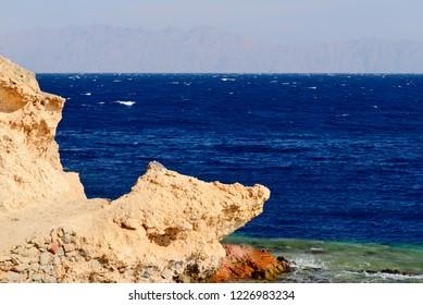 Seascape near Dahab, Egypt.