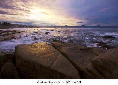 Seascape ocean rocks Mossel Bay