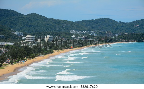 Seascape in Phuket, Thailand. Phuket is home to many high-end seaside resorts, spas and restaurants.