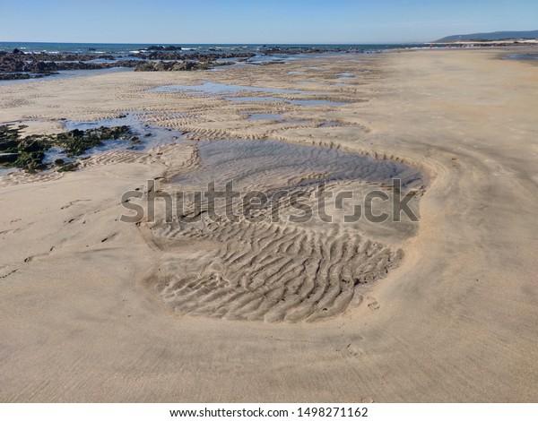 Seascape of Rio de Moinhos beach, Esposende, Portugal.