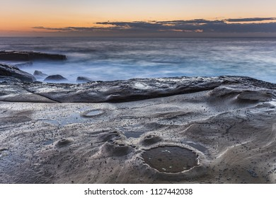 Seascape and Rock Ledge - Capturing the sunrise from The Skillion at Terrigal on the Central Coast, NSW, Australia.