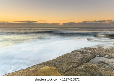 Seascape and Rock Platform - Capturing the sunrise from The Skillion at Terrigal on the Central Coast, NSW, Australia.