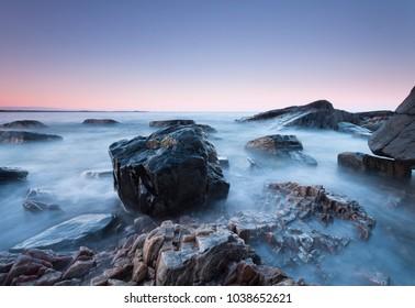 Seascape rocks nature