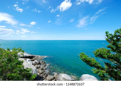 Seascape. sea view from Hua Hin view point Prachuap Khiri Khan, Thailand