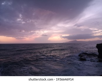 Seascape in Sestri Levante at sunset, Italy