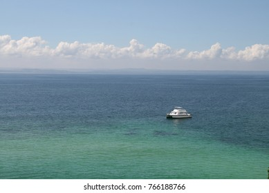 seascape with ship at the ocean