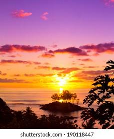 Seascape Skyline Sunset
