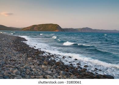 Seascape with stones