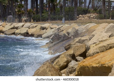 seascape with stones and waves