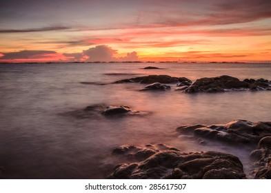 Seascape of sunset