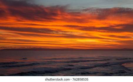 Seascape sunset over Mossel Bay South Africa