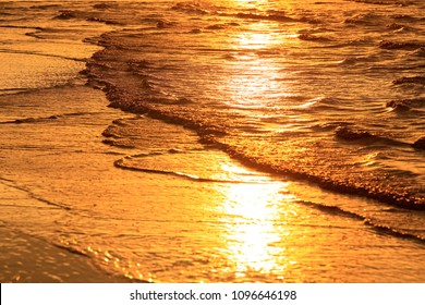 Seascape with sunset time have pattern for wind wave island  . tropical sea at south east asia .Thailand .selective focus