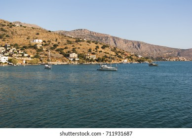 Seascape. Surroundings of the island of Crete, Greece.