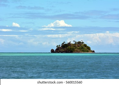 Seascape of a tropical remote island in the Yasawa Islands group, Fiji. The island was used as one of the movie locations the famouse 1980 American romantic adventure drama film, The Blue Lagoon.