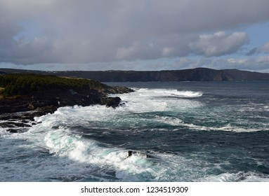 seascape  with waves near Torbay, Newfoundland Canada