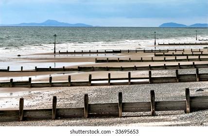 Seashore by Tywyn, north Wales, United Kingdom