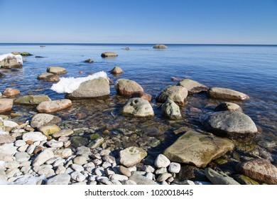 Seashore in Estonia on the Baltic sea.