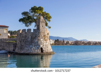 seashore fortress of Nafpaktos, Greece 05 JAN 2018