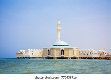 Seashore mosque in Jeddah, Saudi arabia