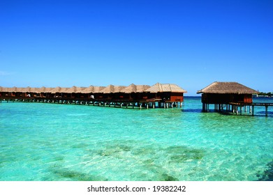 Seashore on an maldivian island