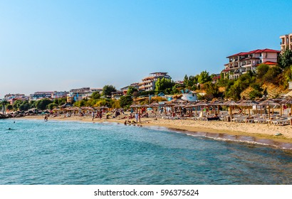 Seashore of resort city Saint Vlas (Sveti Vlas), Bulgaria