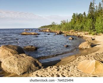 Seashore, Robertfors O, Vasterbottens Ian County, Sweden