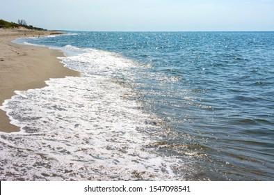 seashore, waves roll on the seashore