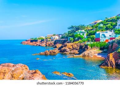 Seaside of Antheor village in France