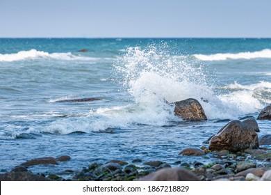 Seaside beach landscape and beautiful  coastline with sea waves - Shutterstock ID 1867218829
